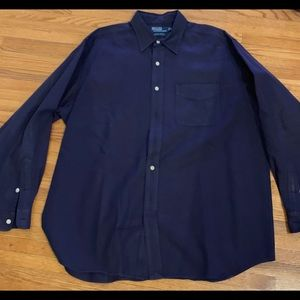 Polo by Ralph Lauren Men's Button-up. Navy. XL.